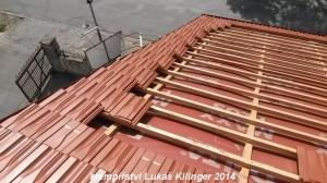 zařezání pálené střešní krytiny