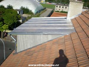 falcovaná střecha Brno FeZn pozinkovaný plech